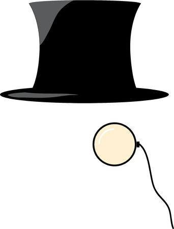keep an eye on: This top hat and monocle design will be great for your exquisite project.