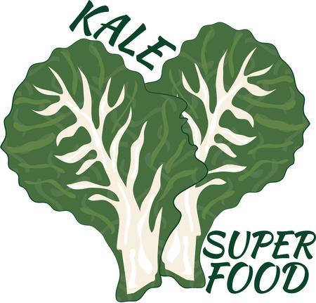 veggies: Enjoy fresh veggies with some kale.
