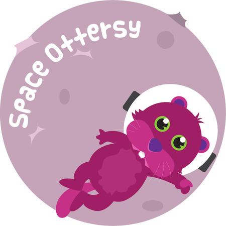otter: Use this astronaut otter for your lunar project.