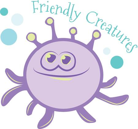 sea creature: Use this funky sea creature in your next nautical project. Illustration