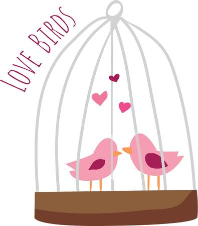 chirp: Use this love bird design for your Valentine.