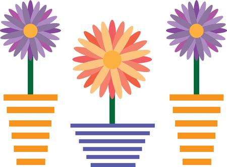 to be pleasant: This floral design will be pleasant on your flower pot project. Illustration