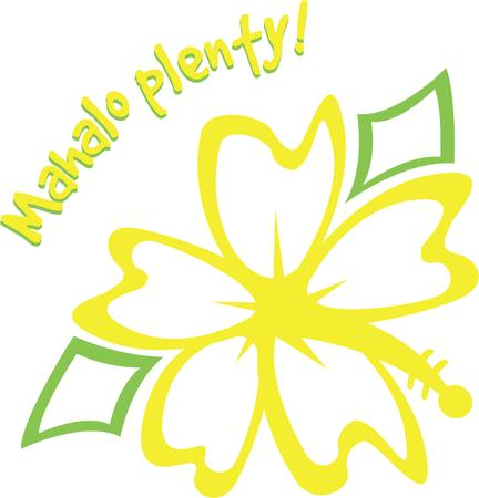 tropical flower: Say hello Hawaiian style with a tropical flower.