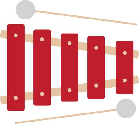 xilofono: Hacer m�sica con un xil�fono.