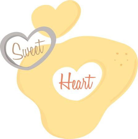 cookie cutter: Share your love for baking with the heart dough design.
