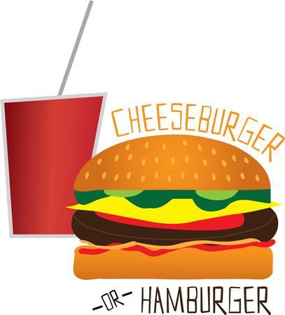 comida americana: Utilice este dise�o de comida r�pida para su proyecto de la comida americana.
