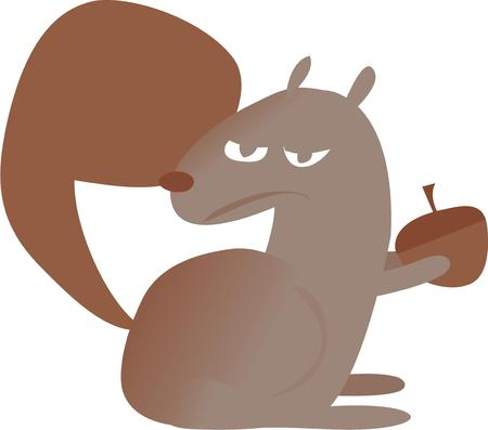 nutty: Use this squirrel for your nutty project. Illustration