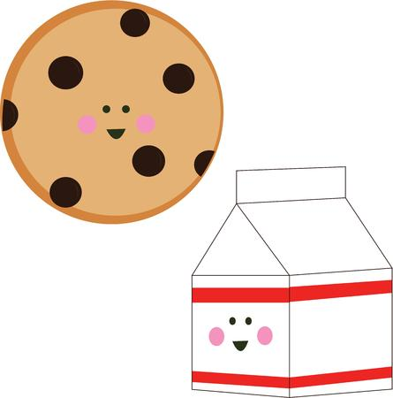 milk and cookies: The perfect afternoon treat for kids is milk and cookies.