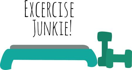 aerobic: Use this aerobic design for your exercise project.