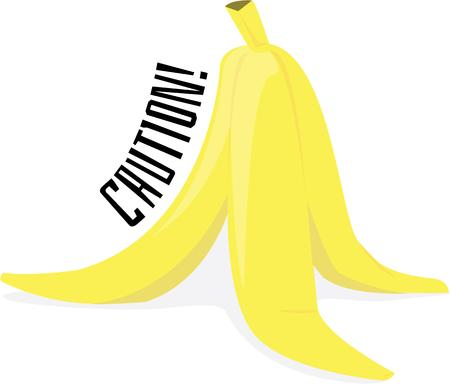 peel: Pull a fun prank with a banana peel. Illustration