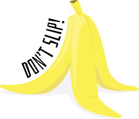 prank: Pull a fun prank with a banana peel. Illustration