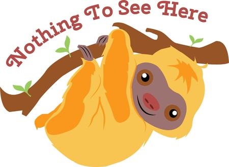 sloth: Amantes de los animales se divertir�n con un perezoso lindo �rbol.