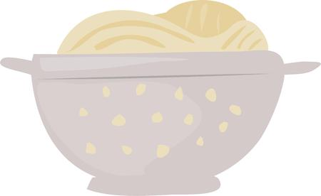 colander: Use this spaghetti colander design for your pasta project.