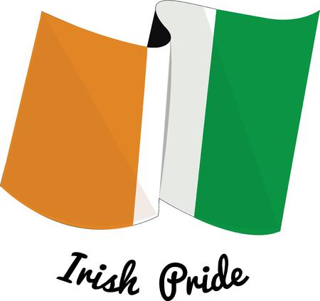 irish pride: Display Irish pride by flying the flag of Ireland.