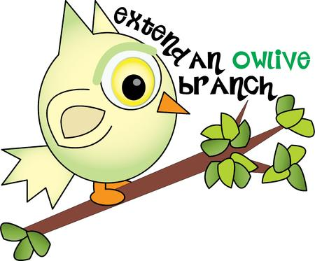 addition: A cute owl is a great addition to any decor. Illustration