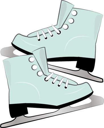skaters: Ice skaters will love to have a pair of nice skates. Illustration