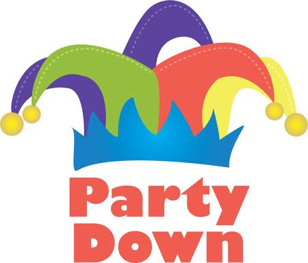 jester hat: Tickle the funny bone with a jester hat. Illustration