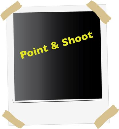 point and shoot: Use this design for your polaroid project. Illustration
