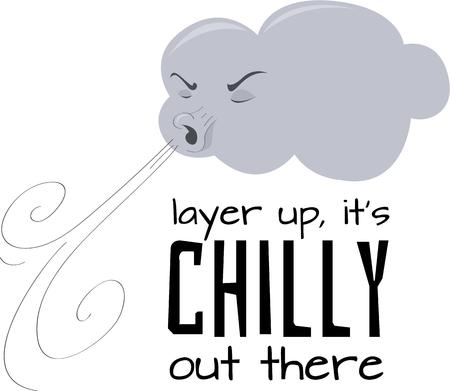 cold weather: Welcome in cold weather with a blowing cloud.