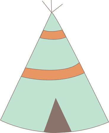 wigwam: Honor American Indian heritage with a sweet teepee. Illustration