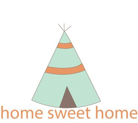 teepee: Honor American Indian heritage with a sweet teepee. Illustration