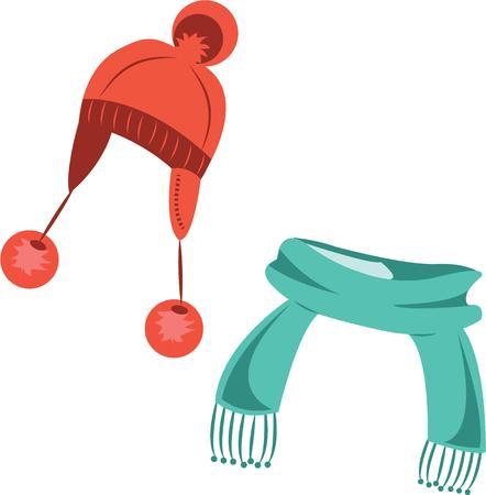 toboggan: Kids need their winter hat and scarf to keep warm.