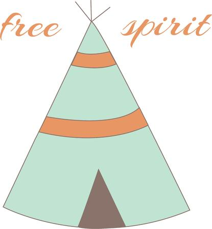 tipi: Honor American Indian heritage with a sweet teepee. Illustration