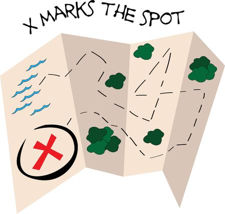 x marks the spot: A treasure map is a pirates best friend.