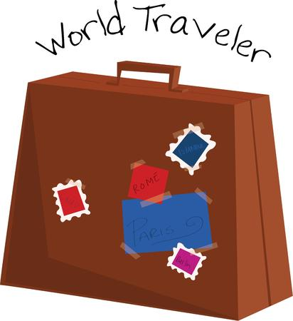 valise: Show off your love for travel with a great suitcase.