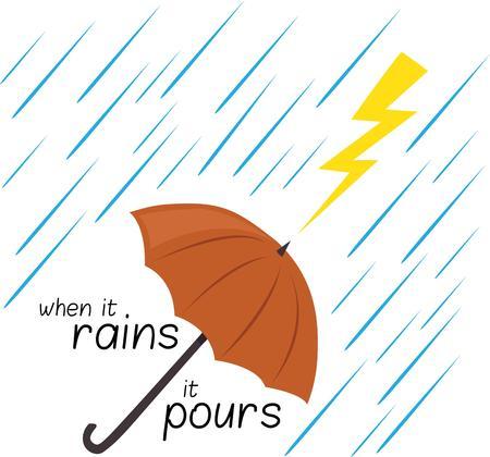 rains: Use this design when lightning strikes. Illustration
