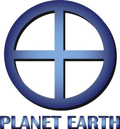 madre tierra: Amantes de la naturaleza podr�n disfrutar de mostrar su amor de la madre tierra con este s�mbolo. Vectores