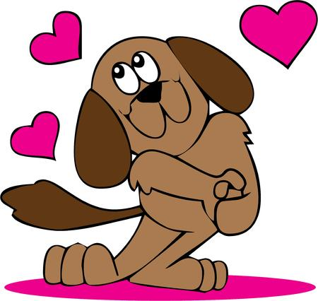 puppy love: Amor adolescente es un gran dise�o para su San Valent�n. Vectores