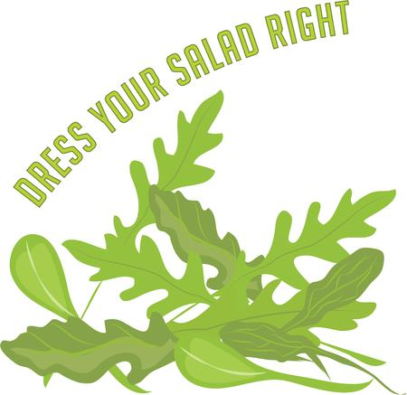 better: Make a salad better with arugula. Illustration