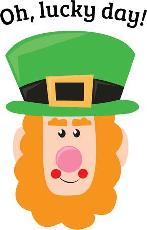 erin: A leprechaun can bring you luck. Illustration