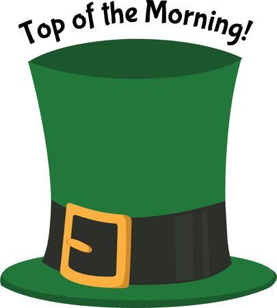 arrozal: Tener la suerte de los irlandeses con un sombrero de duende.