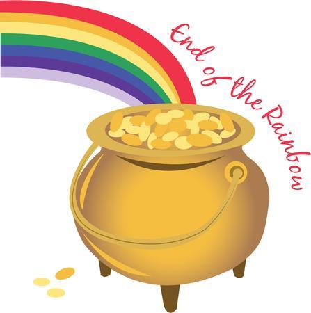 the end of a rainbow: Encontrar una olla de oro al final de su arco iris.
