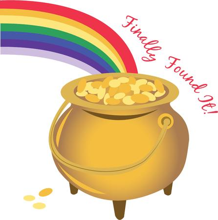 end of rainbow: Find a pot of gold at the end of your rainbow.
