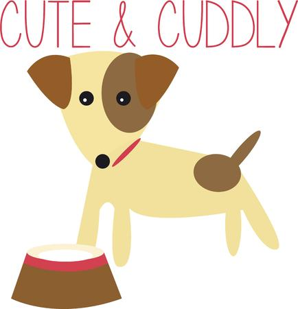 cuddly: Dog lovers will like this cute little puppy.