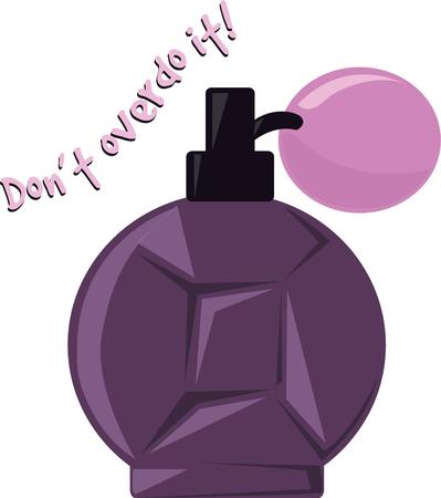 toilette: A perfume bottle is a great addition to a ladys dressing table. Illustration