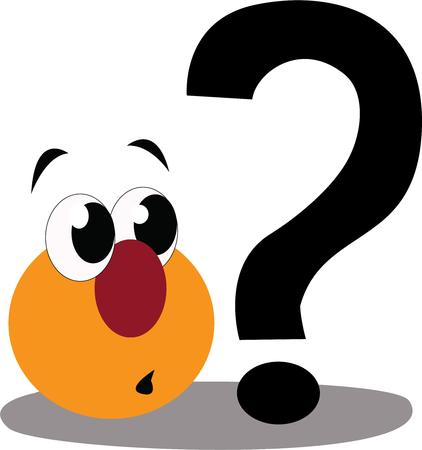 special character: Show your sense of humor with a silly question mark.