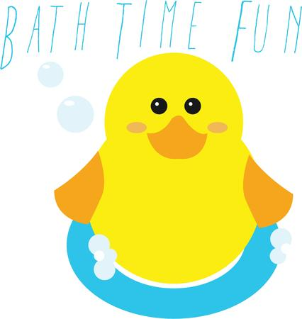 ducky: Use this fun bath design on your ducky project. Illustration