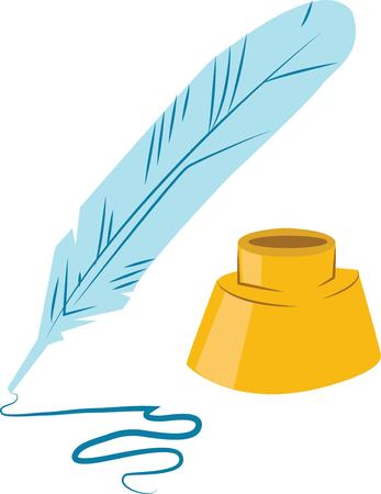 quill pen: Quill pen is an elegant writing tool.