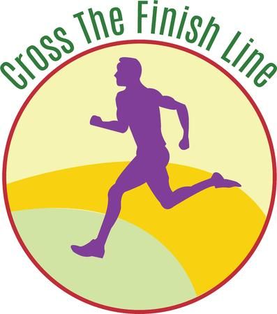 sprinter: This circle design is perfect for the marathon runner or sprinter.