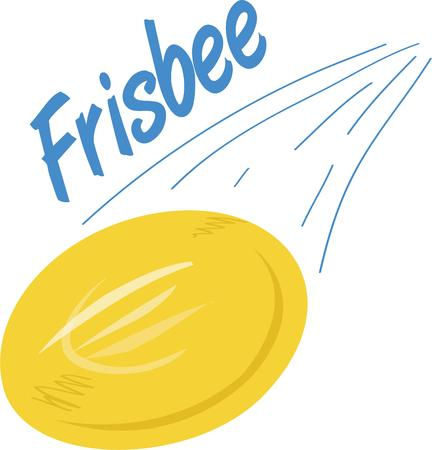 disc golf: Use this frisbee disc for your fun project. Illustration