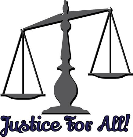 justice for all: This balance design is perfect for a lawyer or judge.
