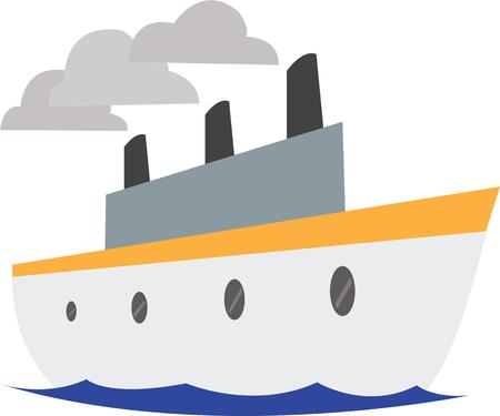 seafaring: Use this boat design for your seafaring project. Illustration