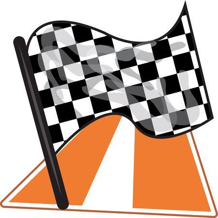 motorsports: Race fans love to see the checkerd flag wave.