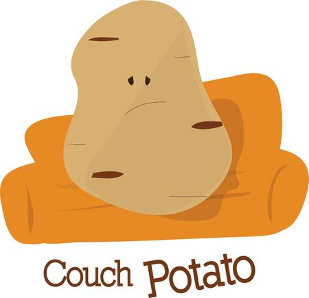 couch potato: Give a couch potato to someone you know for a good laugh.