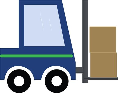 four wheeler: Use this fork lift for your warehouse project. Illustration