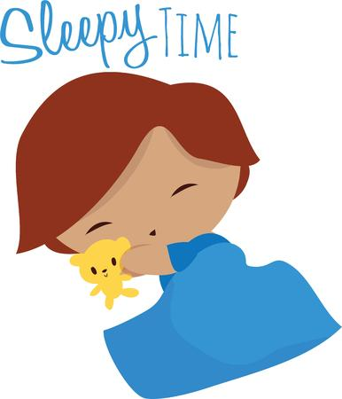 bedtime: A little boy perfect for a bedtime project. Illustration